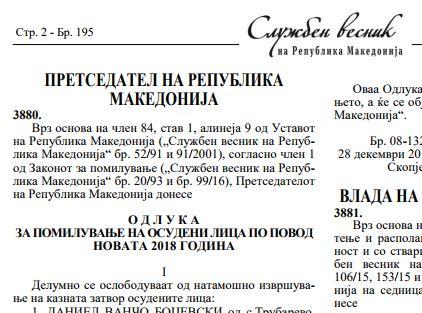 ЕКСКЛУЗИВНО : Иванов за Нова Година помилува исти затвореници два пати