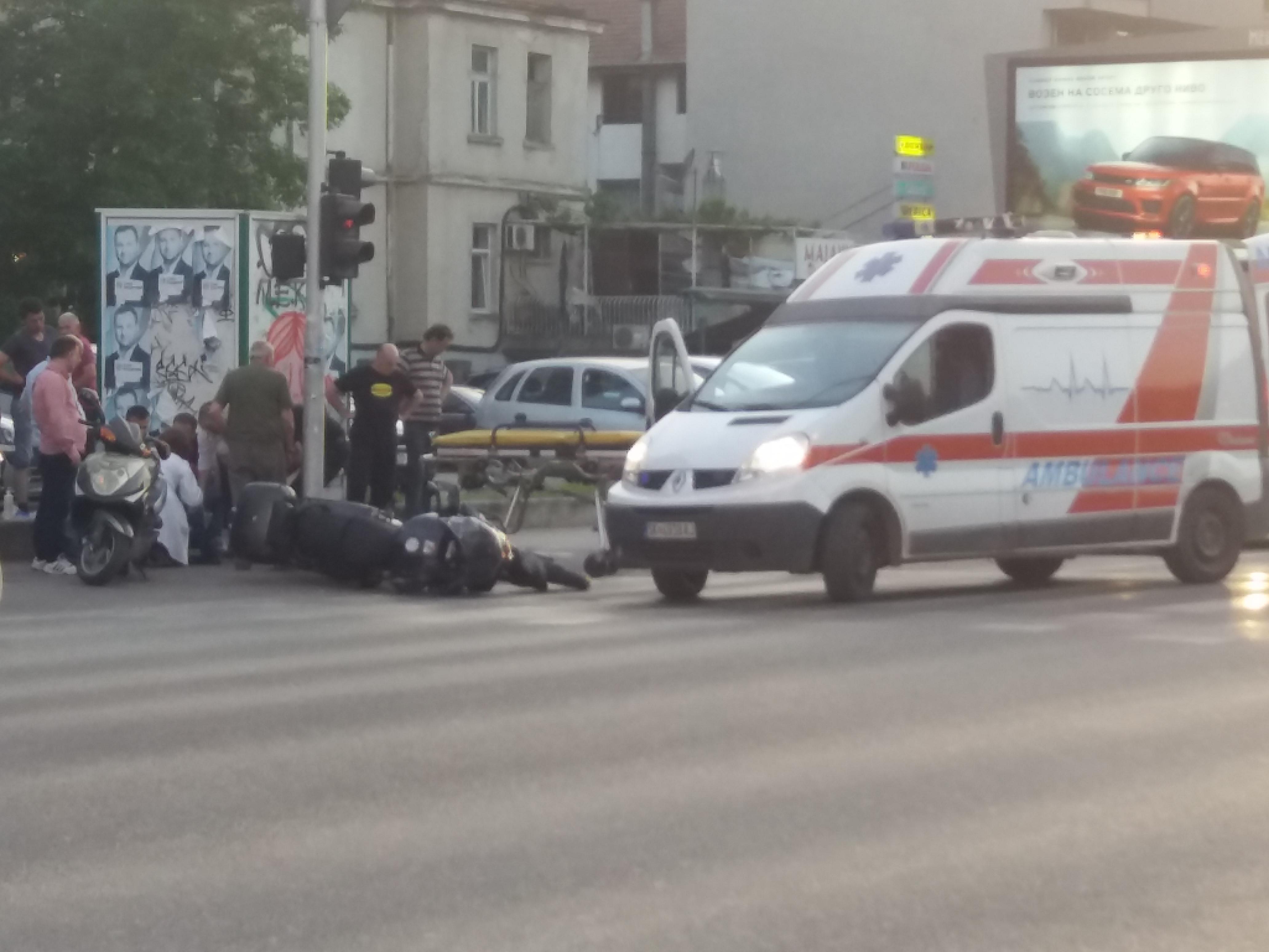 ФОТО: Прегазен моторџија на Илинденска во Скопје