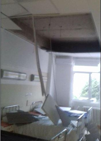 ФОТО : Таван падна врз пациенти во прилепската болница