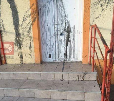 Вандали дивеат низ Могила , училиште испрскано со прегорено масло