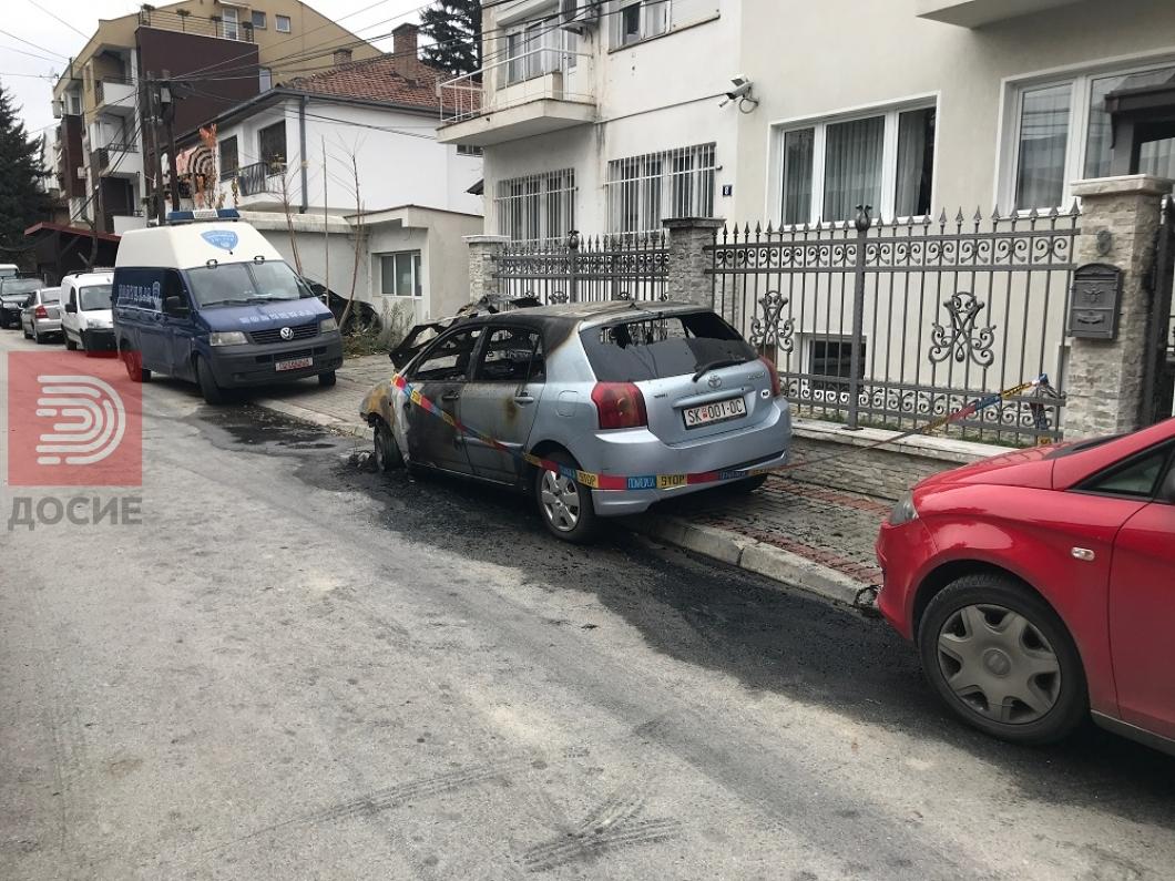 Во подметнат пожар изгоре автомобилот на сопругата на Миле Зечевиќ