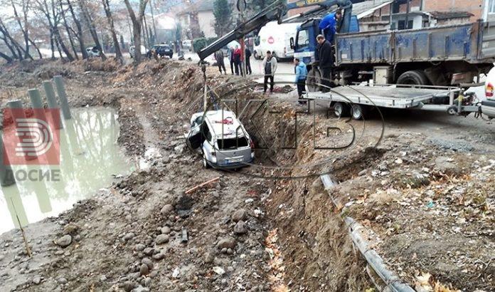 ФОТО : Момче со автомобил паднал и потонал во реката Луда Мара
