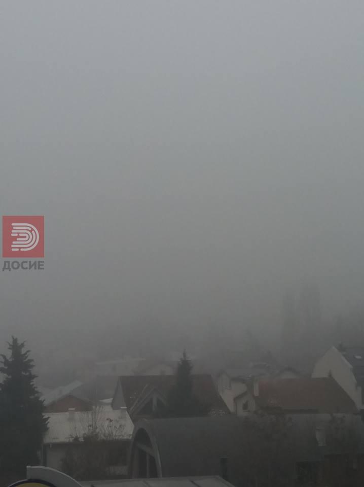 Скопје е разбуди задушено во магла и загаденост