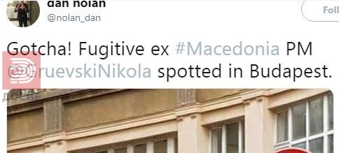Те фатив, дописнокот на Гардијан за фотографијата на Груевски во Будимпешта
