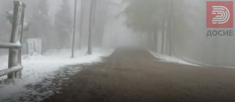 ВИДЕО:  Утринава снег во Хрватска, туристите изненадени