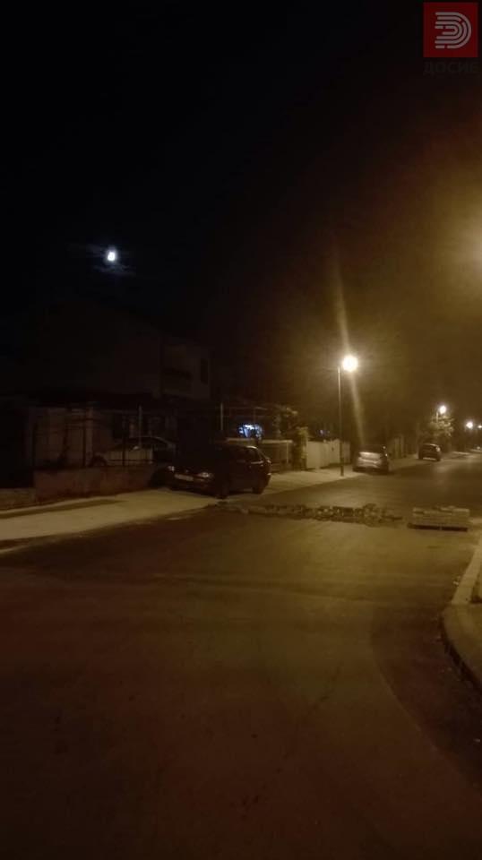 ФОТО: Затворена улица со бехатонки, огромна опасност за автомобили особено мотори