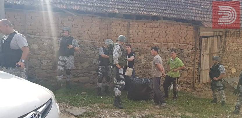 Голема полициска акција и апсење во скопско Љуботен