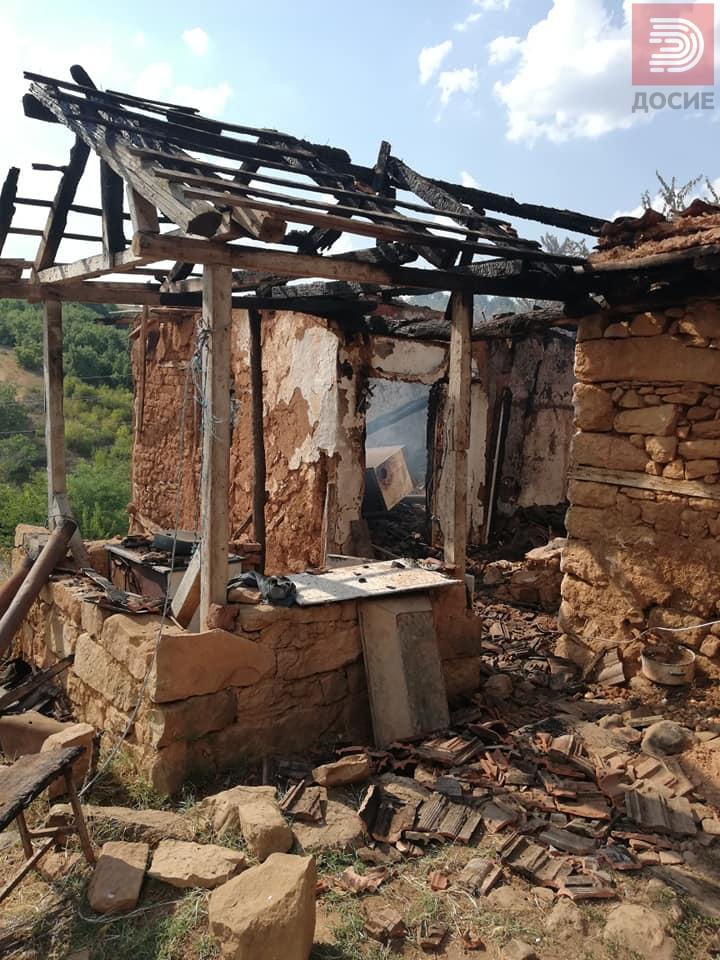Дедо Јосиф не сака да си оди од изгорениот дом потребна е помош