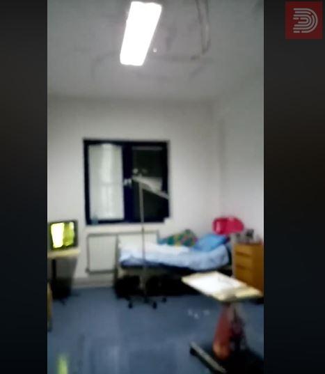 Видео: Тече вода од плафонот во соба за пациенти на нефрологија – Струга