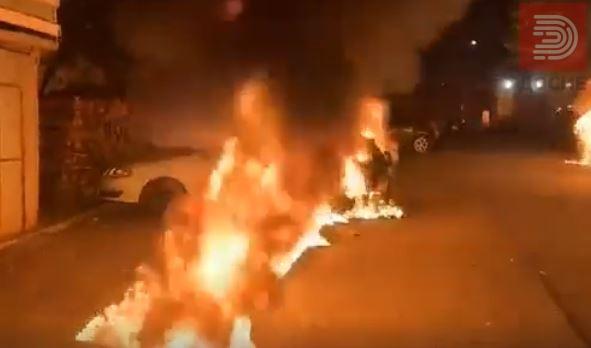 Видео: Како гореа колите на таткото и братот на екс пратеничката Маринела Тушева