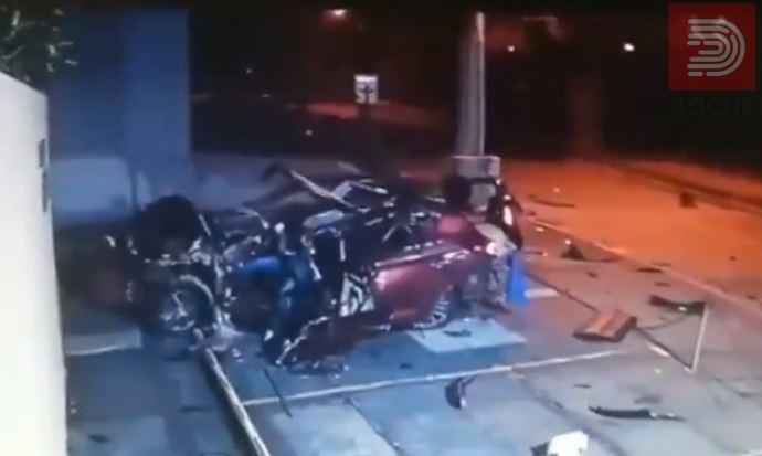 Видео: Се истумба ја искрши колата и излезе неповреден