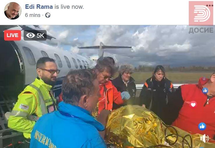 Видео: Еди Рама со најтешко повредените кои со авион се пренесуваат во Италија