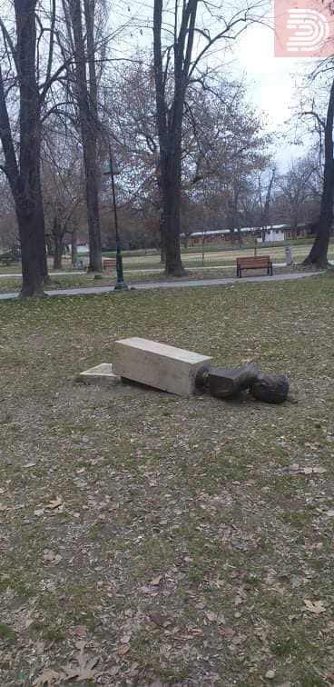 Фото: Вандализам во скопски Градски Парк
