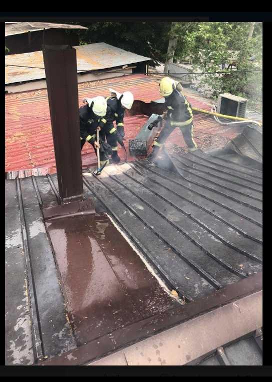 фото Пожар во кафеана зад Катастар во Скопје