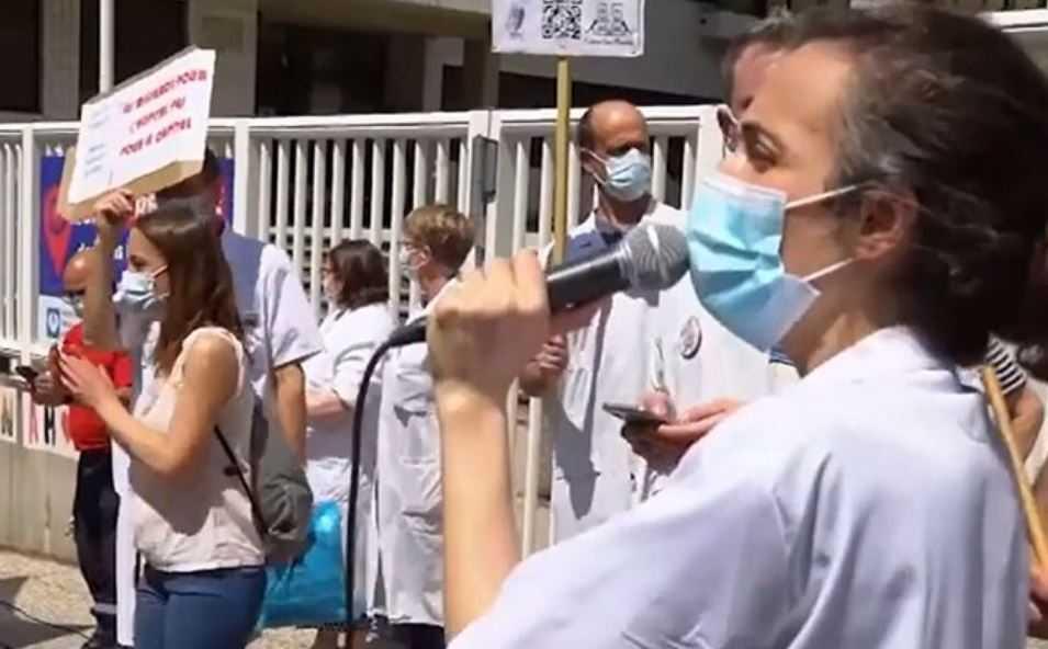 Француските лекари протестираа, полицијата ги казни и уапси тројца