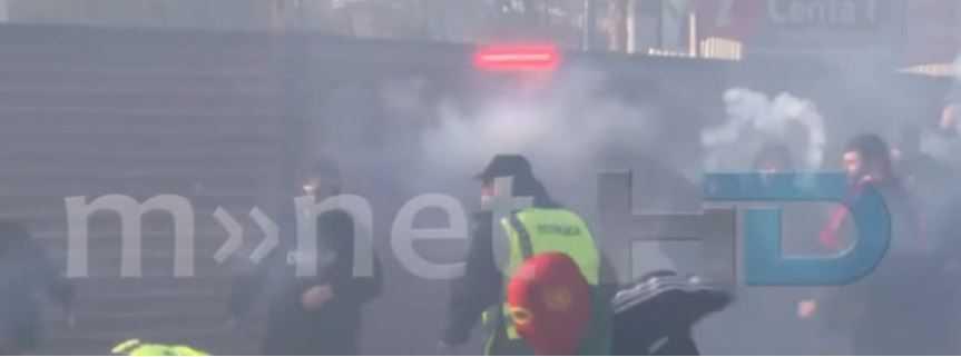 ВИДЕО: Масовна тепачка помеѓу навивачи од Штип и Кавадарци!
